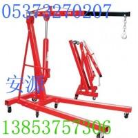 供应0.5-2吨手动液压吊车,液压小吊车,折叠小吊车