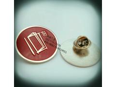 10周年纪念襟章、公司周年标致徽章、广东胸针定制、填色胸牌