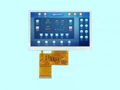 4.3寸800*480高清高亮电容触摸TFT显示屏