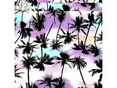 供应泳衣面料 杜邦莱卡泳衣面料 数码夏威夷风格印花