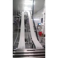 OPB加挡板爬破垂直塑料网带输送线