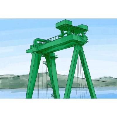 云南曲靖龙门吊厂家租售32吨倒三角龙门吊
