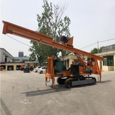 10米液压工程履带螺旋打桩机可定做  长螺旋钻孔灌注桩
