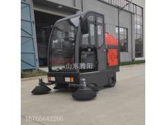 腾阳电动驾驶式扫地车的自动化作业